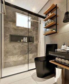 """72 curtidas, 8 comentários - ⬜️ ARQUITETURA (CRIA)TIVA ⬜️ (@arqtiva) no Instagram: """"Banheiro com muita personalidade!! ✨❤️ ⠀ ⠀ ⠀ ⠀ ⠀ Projeto de Najara Paixão ➡ Acompanhe…"""""""