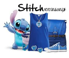 """Stitch ~Neverlandbound"" by gallifreyangryffindor ❤ liked on Polyvore featuring mode, Monsoon, Best Mountain, Mixit, Swarovski, Object Collectors Item, Converse, Journee Collection, neverlandbound et neverlanddisney"