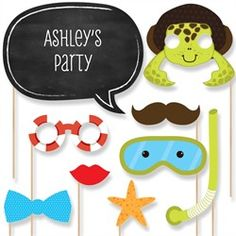 Under the Sea Critters Baby Shower Photo Booth Props Kit  20 Props