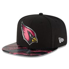 55740f64022 New Era Arizona Cardinals Black Color Rush On Field Original Fit 9FIFTY  Snapback Adjustable Hat