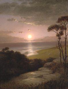 Wiles, Lemuel M - Night over Ocean