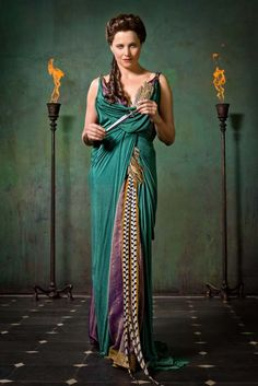 Lucretia played by Lucy Lawless in Spartacus: Vengeance (TV Series 2010-2012).