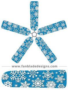 Fan Blade Designs fan blade covers - Snowflakes