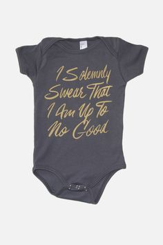 I Solemnly Swear | Harry Potter Baby Onesie