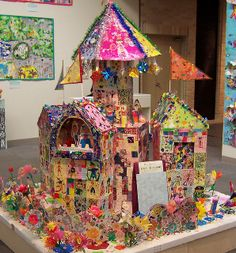 Castle - Children's artwork exhibit  ≈≈
