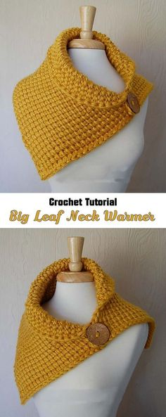 Crochet Leaf Neck Warmer