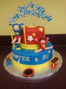 gymnastics party cake