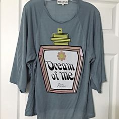 Wildfox adorable tee!! Dream of me Potion in slate blue pink and yellow- adorable! Wildfox Tops Tees - Short Sleeve