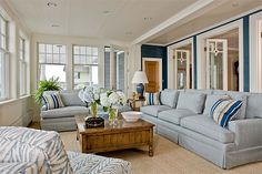 Bring me the blues and whites for the sunroom at my beach house...
