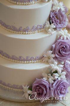 Wedding Cakes anyafoto.com #wedding #weddingcakes, wedding cake ideas, wedding cake desings, white wedding cake, 3 tier wedding cake, purple rose wedding cake, lavendar rose wedding cake,  swirl wedding cake, purple wedding cake, lavender wedding cake, cake detail