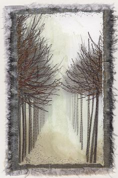 ❤ =^..^= ❤   To the Light #2  Stitchery on photographic print