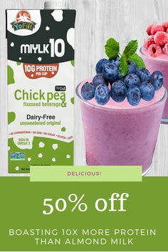 Dairy Free, Gluten Free, Milk Alternatives, Plant Based Milk, Vegan Smoothies, Almond Milk, Protein, Low Carb, Keto
