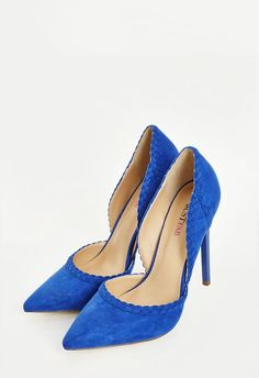 You'll be hot to trot in this dazzling d'Orsay pump. With a smooth faux suede construction and pointed toe, this shoe is a wardrobe must-have....