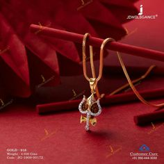 Gold Chain Design, Gold Jewellery Design, Gold Pendants For Men, Gold Jewelry Simple, Bridal Jewelry, Trishul, Gold Pendent, Lahenga, Jewels
