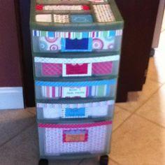 classroom organizer cart | Classroom Storage Cart Makeover