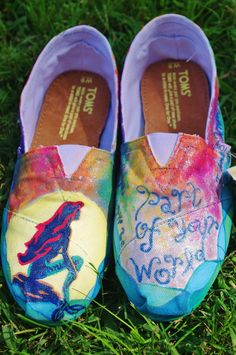 Custom Hand-Painted Movie-Themed Toms (Shoes and Art). $85.00, via Etsy.