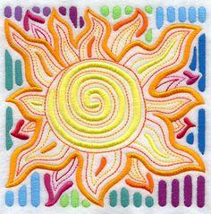 Mola Sun (444 x 437) brightly colored, fun summer design