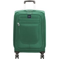 """Skyway Revel 21"""" Carry-On Spinner Upright - Teal - Carry-On Luggage ($53) ❤ liked on Polyvore featuring men's fashion, men's bags, green, mens carry on bags, mens luggage bags and mens travel bag"""