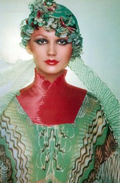 Zandra Rhodes Vogue UK 1975 by Bailey