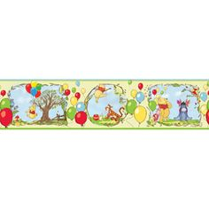 """Disney - Winnie the Pooh """"Bother-Free Day"""" Self-Stick Wall Border"""