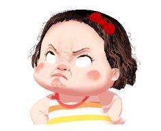 LINE Creators' Stickers - Lumyai cute girl animated Example with GIF Animation