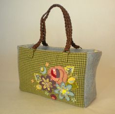 Wool Applique Tote