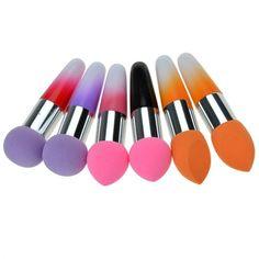 New Women Pro Makeup Cosmetic Brushes Liquid Cream Foundation Concealer Sponge Lollipop Brush 2 PCs Set Beauty Brushes, It Cosmetics Brushes, Makeup Cosmetics, Cosmetic Brushes, Makeup Brush Set, Makeup Kit, Makeup Tools, Makeup Utensils, Magical Makeup