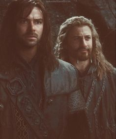 The youngest dwarves of the company: Kili, Fili. They're the youngest, barely qualifying, in the book. In the movie they decided to go with the dwarf whose actor can grow the least amount of facial hair (Ori) ^__^