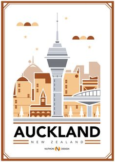 City Illustrations (Auckland, New Zealand) by Nuthon Design