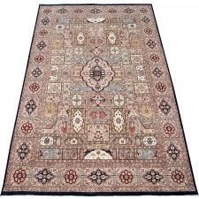This is such a beautiful large handmade oriental rug.The pattern in this multicolor area rug will add colorful warmth and comfort to any large room. Brilliant,detailed colorful floor decor.