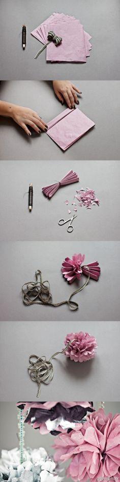 DIY flower @Avie Sawaya Richard