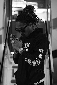 Future Hendrix wearing Stray Rats Youth Crisis Pullover Hoodie