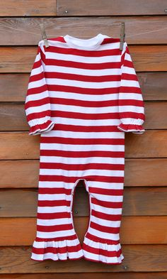 27ece8e5927f Red and white Girls Ruffle Romper. Tinkerbelles and Beaus · Blanks · Ruffle  Romper Short Sleeve - Blossom Blanks Baby ...