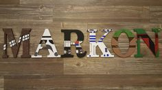— S T A R W A R S T H E M E —  THIS IS AN EXAMPLE OF WHAT I CAN DO.  I can do ALL Star Wars characters. Each letter is WOODEN and is 6 inches tall and are designed and HAND PAINTED by me.  It takes about a WEEK start to finish.  Perfect for a kids room or nursery.  Can attach ribbon to hang or you can hang without it. Price reflected is PER a letter, once you have selected the number of letters you want and submit your order send details / questions in message .  Anything over 10 letters...