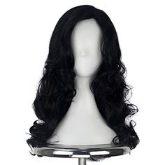 Romantic Black Wig Fei-show Synthetic Heat Resistant Carnival Halloween Costume Cos-play 26 Inches Long Curly Hair Female Party Hairpiece Hair Extensions & Wigs