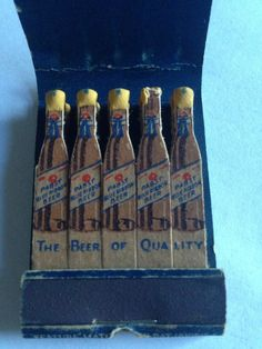 Pabst Blue Ribbon Beer PYE Ervine'S Café Durbin W VA #frontstriker #feature #matchbook   To design & order your advertising #matches GoTo: GetMatches.com or Call 800.605.7331 Today!