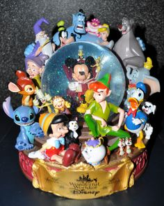 disney characters | Disney Pixar Fanatics: Wonderful World Of Disney Snowglobe