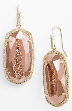 Gorgeous drusy drop earrings http://rstyle.me/n/uedphnyg6