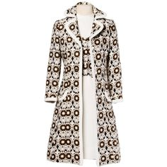 Pre-owned Lilli Ann 70s Vintage Tapestry Coat + Dress Set- 2-Pc... ($550) ❤ liked on Polyvore featuring dress and coat ensembles, suits outfits and ensembles and vintage two piece
