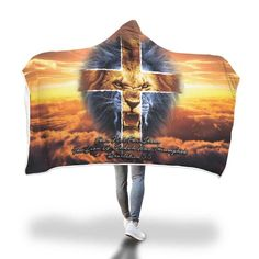 Christian christmas gift ideas - This Jesus lion of Judah hooded blanket is a perfect christmas gift for your friends, family and your loved one Christian Christmas Gift, Christian Gifts, Christian Women, Christian Faith, Christian Quotes, Christian Living, Gods Love Quotes, Girl Quotes, Woman Quotes