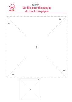 www.momes.net Bricolages Origami-et-bricolages-en-papier Jeux Fabriquer-un-moulin-a-vent-en-papier