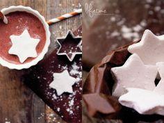 Marshmallows, Sterne, Weihnachten, stars, Ausstechen, Winter