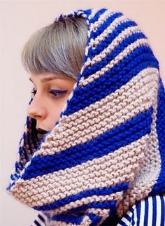 Ziggy cowl and scarf by Leah Coccari-Swift - free knitting pattern (pdf download)