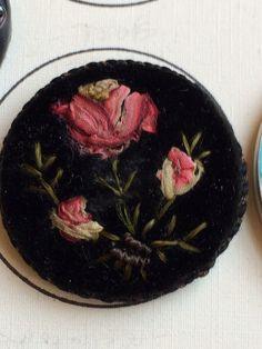 Rare 18th Century Velvet Button