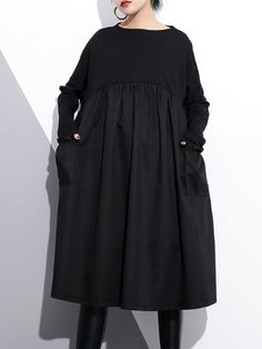 Rare Attitude Peplum Smock Dress - Eva Trends Tiered Dress, Smock Dress, Minimalist Fashion, Dress Collection, Smocking, Types Of Sleeves, Designer Dresses, Peplum, Fancy Clothes