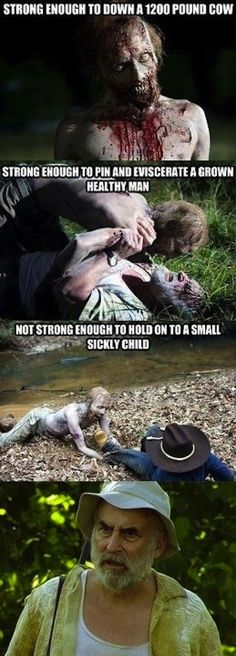 "The fluctuating strength of zombies: | The 33 Most Frustrating Things About ""The Walking Dead"""