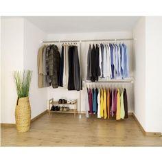 ensemble de 3 pcs de garde-robe télescopique en inox - Système flexible de rangement à tringles à vêtements. 3 barres télescopiques en inox (2x barre de garde-robe + 1x barre … Voir la présentation