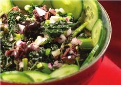 Meals That Soothe Inflammation: Kale Salad Superfood Recipes, Kale Recipes, Whole Food Recipes, Vegetarian Recipes, Healthy Recipes, Recipies, Fun Recipes, Vegan Vegetarian, Kale Salad