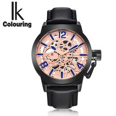 (39.10$)  Know more - http://ai7in.worlditems.win/all/product.php?id=32766689475 - The new IK art RETRO military men automatic mechanical watches watches hollow belt leisure