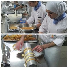 Students busy at our pastry kitchen